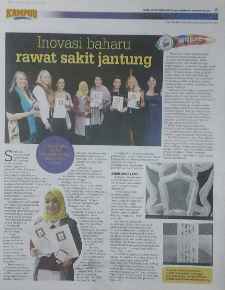 Innovation for heart patients by Dr Noorhafiza
